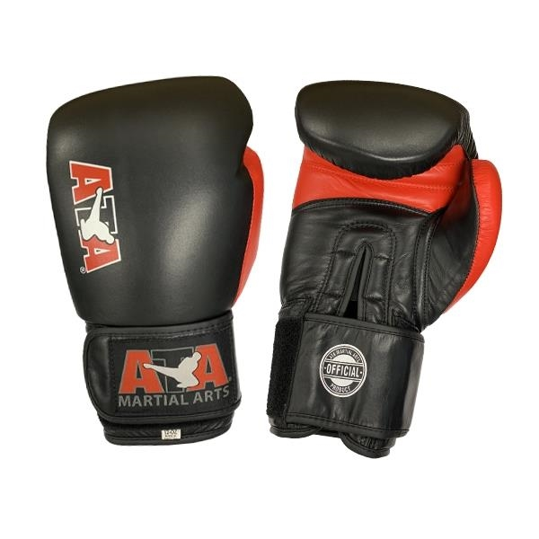 Official ATA Boxing Glove Leather Black/Red